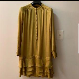 Banana republic shift ruffle dress